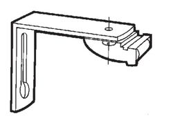Hållare Gardinskena Elite/2001 10cm