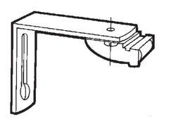 Hållare Gardinskena Elite/2001 15cm