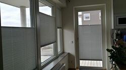 Mörkläggningsgardiner sneda fönster